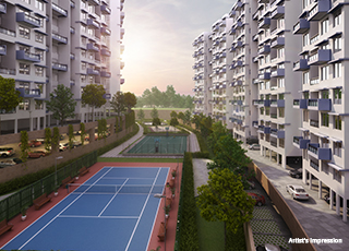 Kolte Patil Three JewelsPROJECT GALLERY Exterior-LAWNS TENNIS