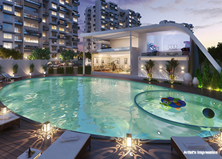 Kolte Patil Three Jewels PROJECT GALLERY Exterior-SWIMMING POOL