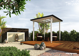 Kolte Patil Centria Meditation Pavilion & Zen garden