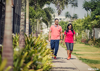 walking/jogging track