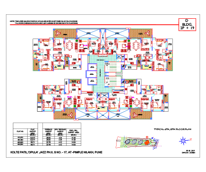Kolte Patil 24K Opula TYPICAL 4TH, 8TH FLOOR PLAN