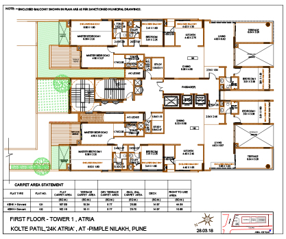 Kolte Patil 24K Atria FIRST FLOOR TOWER 1 FLOOR PLAN