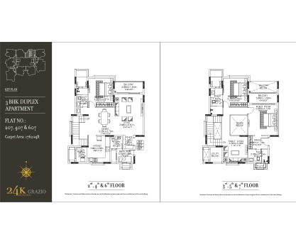 Kolte Patil 24K Grazio 3 BHK Duplex