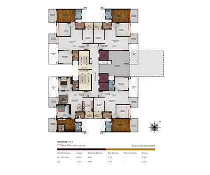 Kolte Patil Tuscan Parkland Building C1-2nd Floor