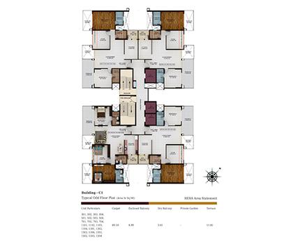 Kolte Patil Tuscan Parkland Building C1-ODD Floor