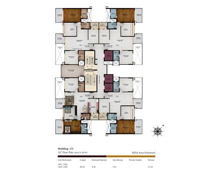 Kolte Patil Tuscan Parkland Building C1-14th Floor