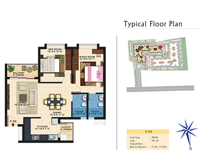 Kolte Patil Raaga F-04 Floor Plan