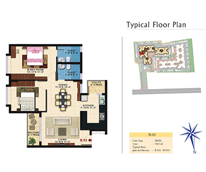 Kolte Patil Raaga B-03 Floor Plan