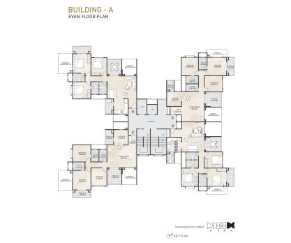 Kolte Patil 24K Sereno BUILDING A-EVEN FLOOR PLAN