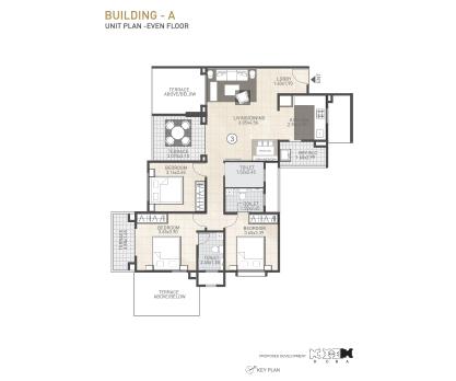 Kolte Patil 24K Sereno BUILDING A-UNIT PLAN-EVEN FLOOR