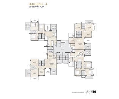 Kolte Patil 24K Sereno BUILDING A- ODD FLOOR PLAN
