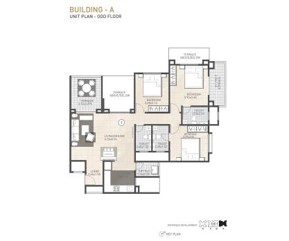 Kolte Patil 24K Sereno BUILDING A-UNIT PLAN-ODD FLOOR