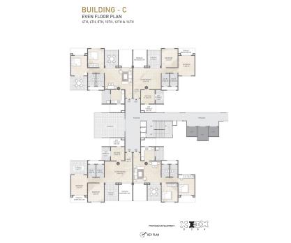 Kolte Patil 24K Sereno BUILDING C-EVEN FLOOR PLAN