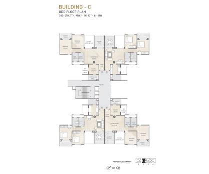 Kolte Patil 24K Sereno BUILDING C-ODD FLOOR PLAN