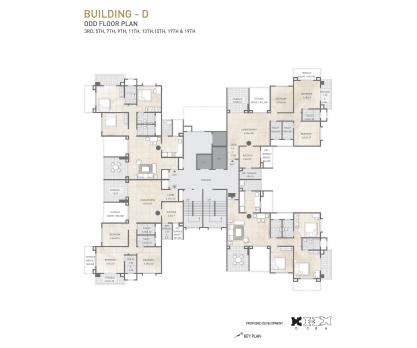 Kolte Patil 24K Sereno BUILDING D-ODD FLOOR PLAN