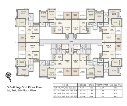 Kolte Patil Green Olive D BUILDING- ODD FLOOR PLAN