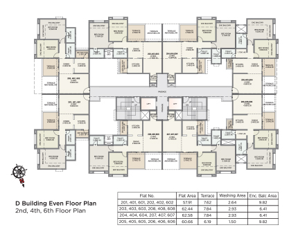 Kolte Patil Green Olive D BUILDING- EVEN FLOOR PLAN
