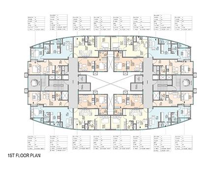 Kolte Patil Mirabilis 1st Floor Plan
