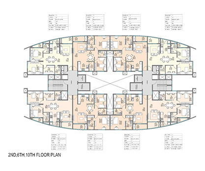 Kolte Patil Mirabilis 2nd, 6th, 10th Floor Plan