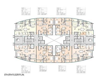 Kolte Patil Mirabilis 5th, 9th Floor Plan