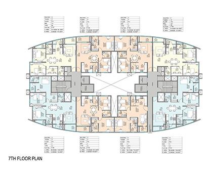 Kolte Patil Mirabilis 7th Floor Plan