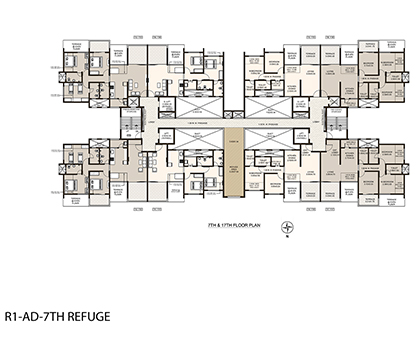 Life Republic First Avenue 7th & 17th Floor plan