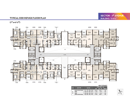 Life Republic i-TOWERS - Building E & G - Odd Refuge Floor Plan