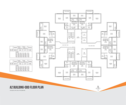 Kolte Patil Umang Premiere -A2 Building- Odd Floor Plan