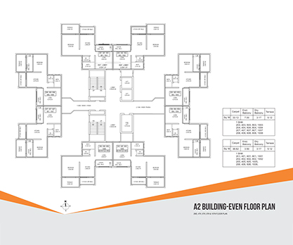 Kolte Patil Umang Premiere -A2 Building- Even Floor Plan