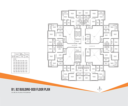 Kolte Patil Umang Premiere B1, B2 Building- Odd Floor Plan