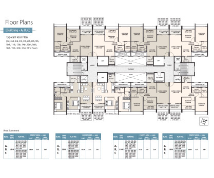 Life Republic Arezo Building a, b, c floor plan