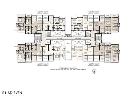 Life Republic Arezo Even floor plan