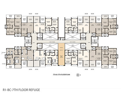 Life Republic Arezo 7th and 17th floor plan