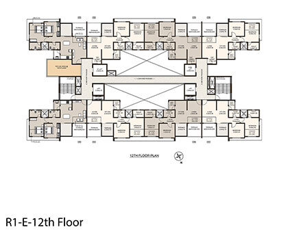 Life Republic Arezo 12th floor plan