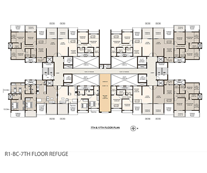 Life Republic First Avenue 7th and 17th floor plan