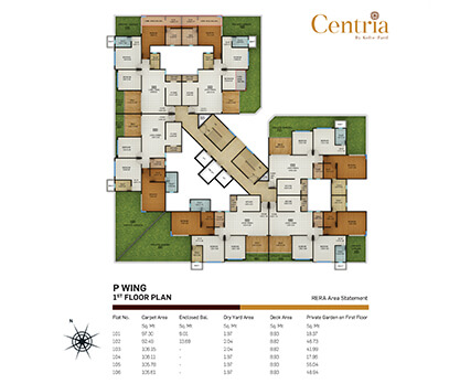 p wing - 1st floor plan