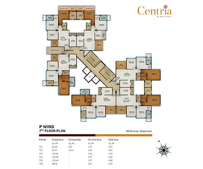 p wing - 7th floor plan