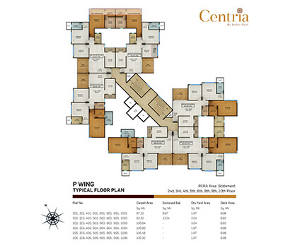 p wing - typical floor plan