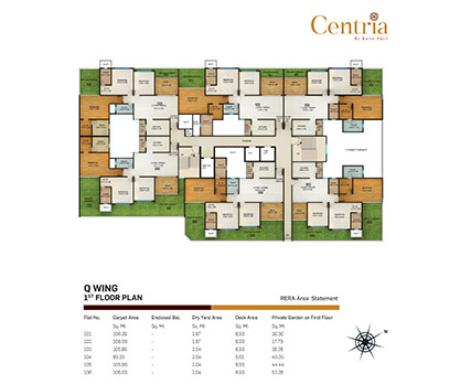 q wing - 1st floor plan