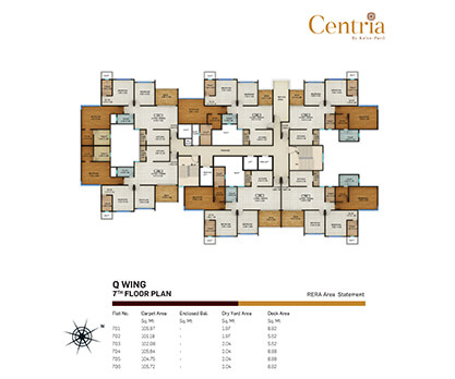 q wing - 7th floor plan
