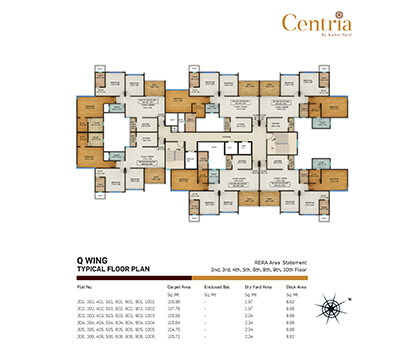 Q wing - typical floor plan