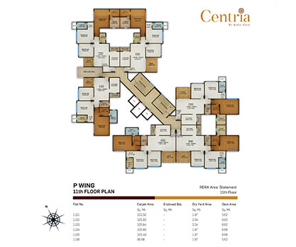 p wing - 11th floor plan