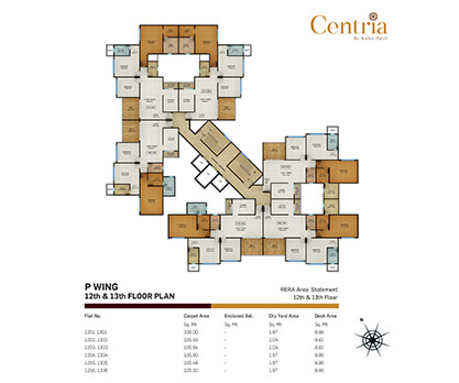 p wing - 12th & 13th Floor plan