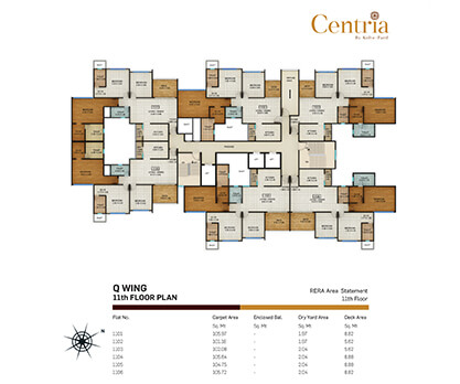 Q wing - 11th floor plan