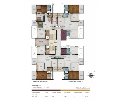 building c2 - 14th floor plan