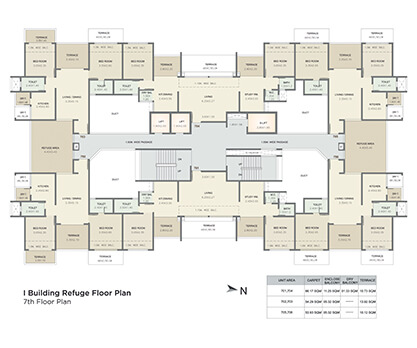 i building refuge floor plan - 7th floor