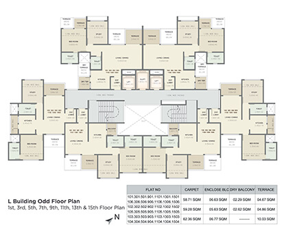 l building odd floor plan