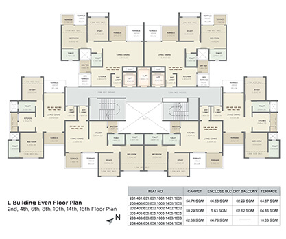 l building even floor plan