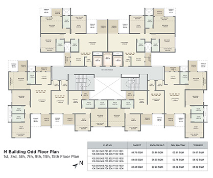 l building refuge floor plan - 12th floor
