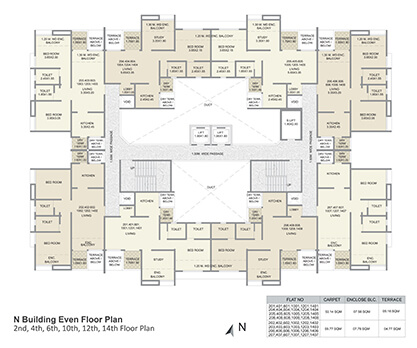 n building even floor plan